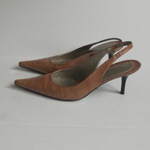 Kenneth Cole Reaction all Leather Slingback Heels